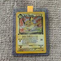 Dark Raichu 83/82 - 1st Edition Team Rocket Set - Secret Rare Holo Pokemon Card