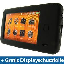 Schwarz Silikon Hülle für Creative Labs Zen X-Fi 2 Tasche Etui Case Skin