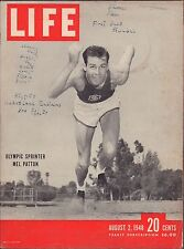 LIFE August 2,1948 Olympic Sprinter Mel Patton / Western Union / The Andes
