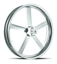 """DNA """"VICTORY"""" CHROME FORGED BILLET 23"""" X 3.75"""" FRONT WHEEL HARLEY FL SOFTAIL"""