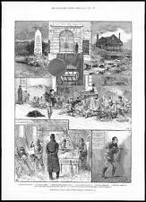 1884 DARTMOOR PRISON Views - Convicts - Entrance - French POW Working (031)