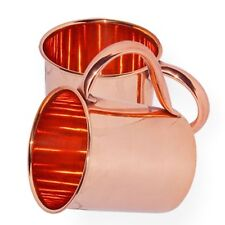 2 PURE SOLID COPPER MOSCOW MULE CUP 16oz BAR BEER MUG GIFT FREE SHIP HOME DECOR