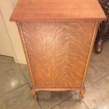 Vintage Tiger Oak Three (3) Drawer Bedroom Dresser Chest Kitchen Cabinet Storage