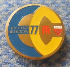 FIS BESKIDY CUP SKI JUMPING NORDIC COMBINED POLAND SZCZYRK WISLA 1977 PRESS PIN