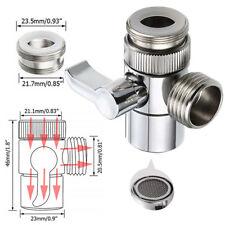 Universal Sink Valve Diverter Faucet To Hose Adapter Kitchen Bathroom Brass Us