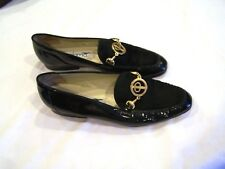 Paloma patent leather & suede black shoes/flats/loafers, sz. 7B