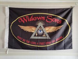 Masonic Flag Banner Widows Sons Brass grommets 3'X5'  90*150cm Mason Freemason