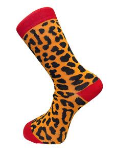 Frederick Thomas leopard print men-s cotton socks loud