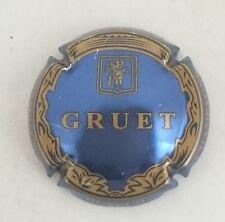 capsule GRUET et fils NOUVELLE argent cuvée De Chasteller noir et or