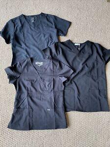 3 black scrub top medium