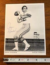 ROGER STAUBACH Dallas Cowboys Autograph Press Photo Signed Auto