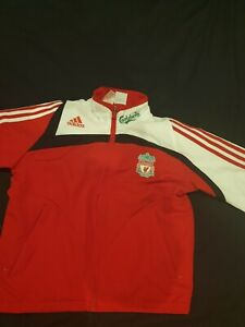 Liverpool FC Boys adidas Training Jacket Red and white small 9-10years