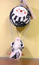 Patricia Breen Swing Time Santa Black Snow Face Gumps 2 part 2006 Nwt #2646 6.3""