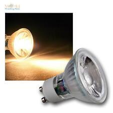Gu10 LED Ampoules, 3w COB Blanc Chaud 230lm, projecteur ampoule spot 230v réflecteur