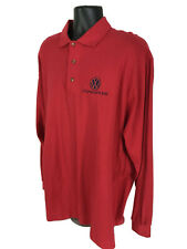 Volkswagen Polo Shirt Mens Size XXL 2XL Red Long Sleeve Knit Made In USA