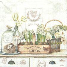 Lot de 4 Serviettes en papier Jardin Royal Decoupage Collage Decopatch