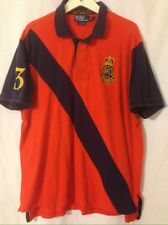 Polo Ralph Lauren Orange & Blue XXL 2XL Custom Fit Bleecker Street #3 Shirt