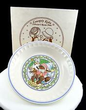 """WATKINS #6277 SNOW MAGIC COUNTRY KIDS COLLECTOR 10 3/4"""" RECIPE PIE PLATE IN BOX"""