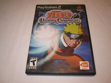 Naruto Uzumaki Chronicles (Playstation PS2) Original Release Complete Excellent!