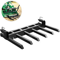 """60"""" Clamp On Debris Forks Tractor Skid Steer Loader Attachment Heavy Duty Steel"""