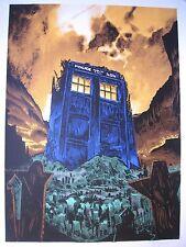 The Fields of Trenzalore Silkscreen Art Poster 2013Tim Doyle  Dr Who Regular Ed