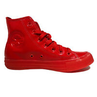 Converse Chuck Taylor ALL STAR Hi Casino Womens Red Patent Sneakers 153229 Sz:7