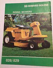 Howard BOLENS Riding Mowers 828/829 Ride On Original 1970s Rare Vintage Brochure