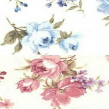 100% Cotton Poplin Fabric Rose & Hubble Oak Tree Rose Floral Flower Roses