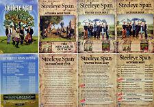STEELEYE SPAN TOUR FLYERS X 8 - 2011 2016 2017 2018 -  MADDY PRIOR