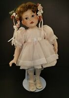"""Porcelain Doll """"A Party for Sarah"""" 1991 by Patricia Ross 13"""" with Stand"""