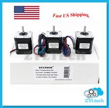 US Shipping 3X Nema17 Stepper Motor 1.7 A 0.59 Nm 84 ozin for 3D printer and CNC