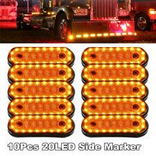 10X Amber 12V Side 20LED Marker Rear Safety Light Lamp for Truck Trailer Boat
