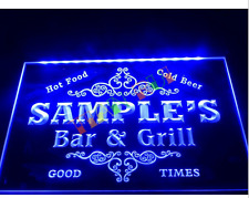 Name Personalized Custom Family Bar & Grill Beer Home Neon Sign H200MM X W300MM