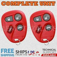 2 for 2001 2002 2003 2004 2005 Cadillac Deville Keyless Entry Remote Key Red