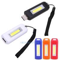 Rechargeable Mini USB LED Keychain Light Torch Lamp Flashlight Portable Pocket