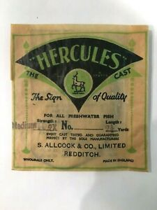 Vintage HERCULES Spanish Silkworm Gut Fly Fishing Leader _ Made in England