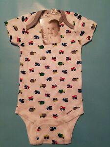 NWT Baby Infant Boy Trucks Onesie Bodysuit