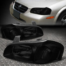 FOR 00-01 NISSAN MAXIMA SMOKED HOUSING CLEAR CORNER HEADLIGHT REPLACEMENT LAMPS