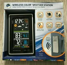 LA CROSSE Technology S88907 Vertical Wireless Color Forecast Station Alerts NEW
