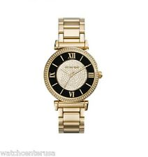 Michael Kors MK3338 Gold Womens Watch Caitlin Glitz Pave Oversized Face
