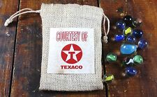 Courtesy of Texaco Round Red Circle T Gas Station Advertising Bag of Marbles