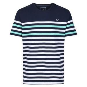 Crew Clothing Wandle Stripe T-Shirt - Optic Stripe - RRP £25