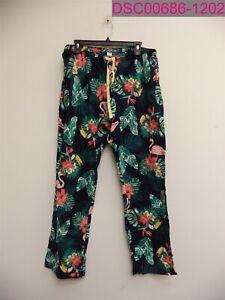 "Old Navy Women's Navy Tropical Poplin Pants Large 32"" Inseam 391481-10"