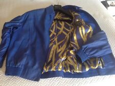 Men's blue Zilli Leather jacket, silk lined size 50 zilli very nice condition cl