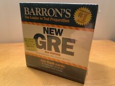 Barron's GRE: 2nd Edition 500 Flash Cards NEW NIB SEALED
