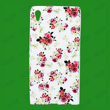 Smooth Flower Skin Silicone Rubber Soft Cover Case For Sony Xperia Z4