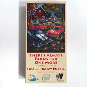 """Classic Cars 300 Piece Puzzle Michael Irvine Room for One More 18""""x24"""""""