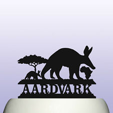 Acrylic Aardvark Nocturnal African Mammal Childrens Education Cake Topper