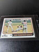 1974 Topps #386 Gary Matthews San Francisco Giants Baseball Card