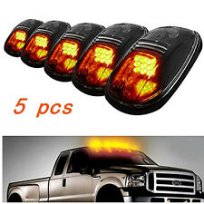 5pcs Amber 9LED Cab Roof Marker Lights Smoked Lens  for SUV RV Truck Pickup 4X4